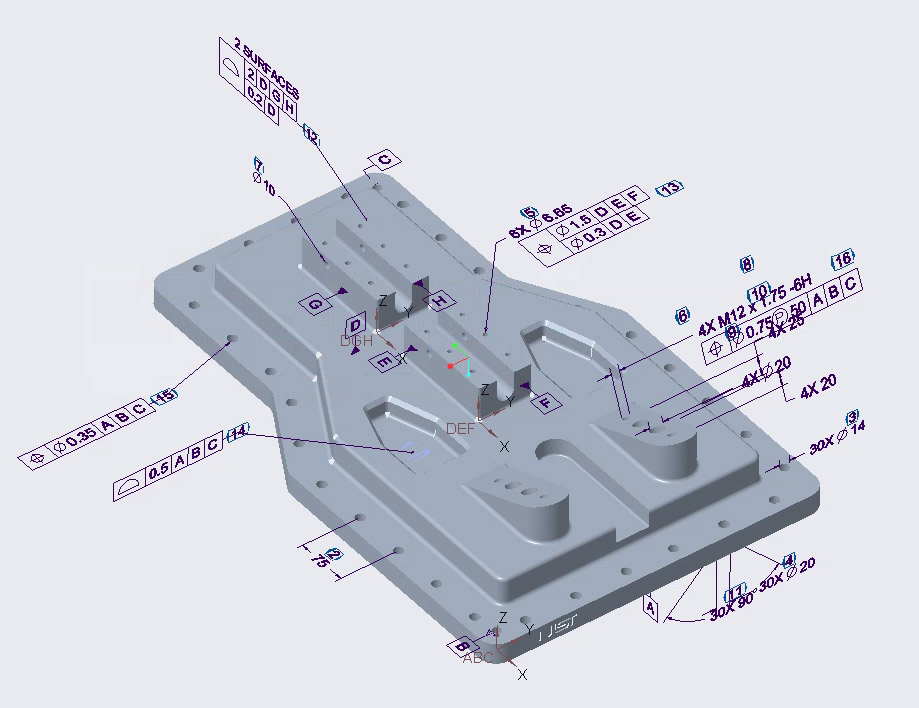 Gestempeltes 3D-Modell in Creo