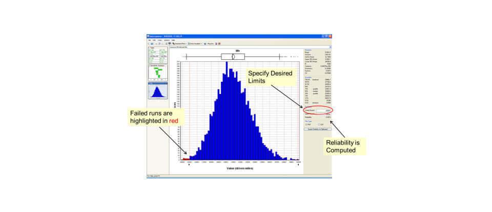 ModelCenter Explore Probabilistic Analysis Plot