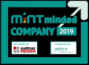 Siegel der Auszeichnung MINT minded Company